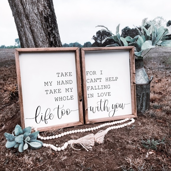 Farmhouse His And Hers Love Sign Set 12x16
